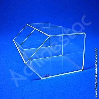 Baleiro de acrilico cristal Duplo 15x36x22cm baleiro transparente biscoitos bombons