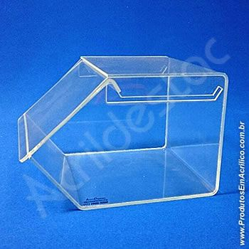 Baleiro de acrilico transparente com Tampa 15x16x20cm para festas