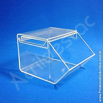 Baleiro de acrilico cristal com Tampa 15x18x22cm Baleiro porta doces