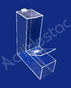 Baleiro de acrílico cristal individual 30cm Alt para lojas festas balas doces cereais a granel