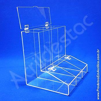 Baleiro de acrilico cristal triplo 30cm Alt para docerias supermercados padarias emporios lojas