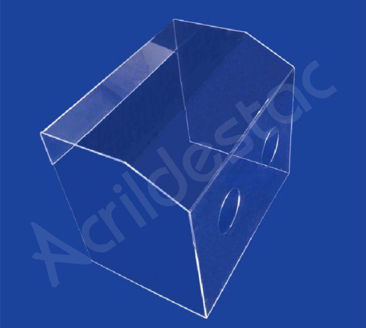 Caixa Acrílico Protetora Cristal 58 x 40 x 49 cm para Proteção contra Coronavírus COVID19