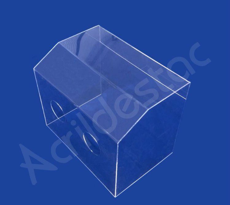 Caixa Acrílico Protetora Cristal 50 x 50 x 40 cm para Proteção contra Coronavírus COVID19