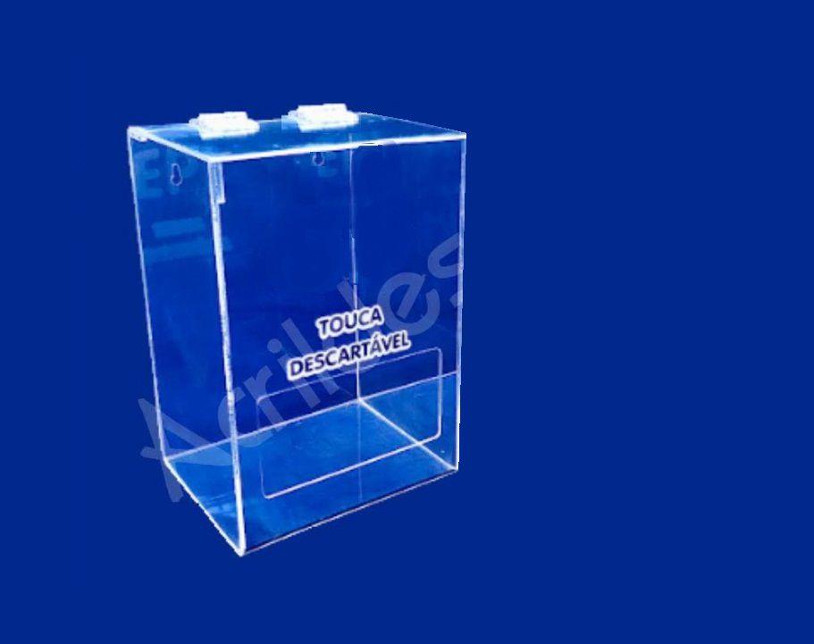 Caixa Acrilico cristal para EPI 22x15cm caixa organizadora com janela de abertura frontal para EPIs