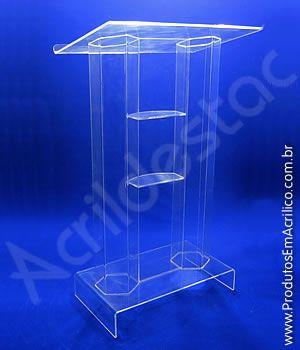 Pulpito de Acrilico NAPOLI Transparente Tribuna para Igrejas