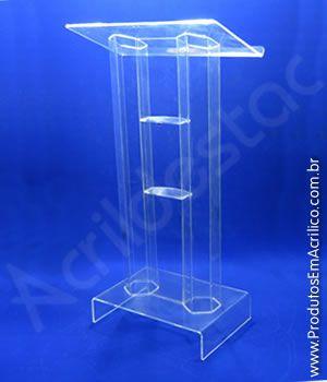 Pulpito de Acrilico Transparente VENEZA Modelos de Igrejas e Eventos