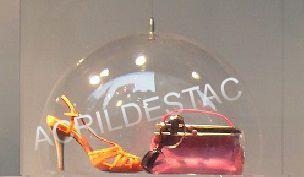Cupula de Acrilico cristal 20cm diametro redoma acrilico com Aba