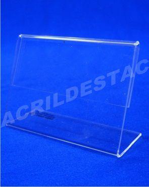 Display acrilico L identificador de preços menu e nomes 9x9cm