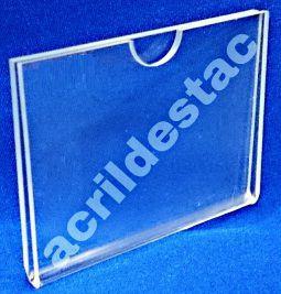 Display Acrilico Porta etiquetas e preços 6x8cm