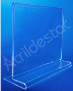 Display acrilico T duplo de mesa para folders A3 30x42 Horizontal