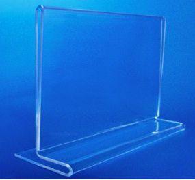 Display acrilico de mesa T para cardapios e menu A5 15x21 Horizontal