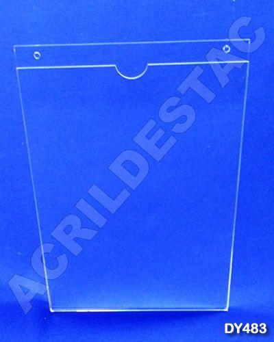 Display de acrilico Porta Folheto de parede modelo U Duplo A3 42x30 Vertical
