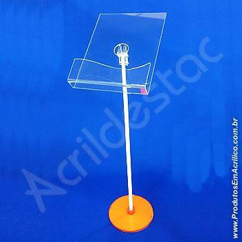 Display de Chão Pedestal Acrilico para Revista ou Jornal 350 Folhetos Vertical