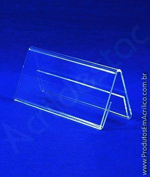 Display de PS Cristal acrilico similar 4,5 x 10 dupla face