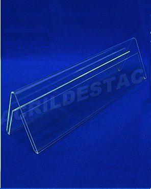 Display de PS Cristal acrilico similar Prisma identificador de mesa 7 x 17 dupla face