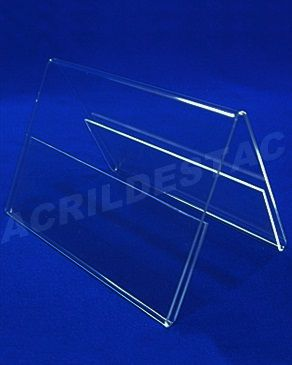 Display de PS Cristal acrilico similar A5 15 x 21 dupla face