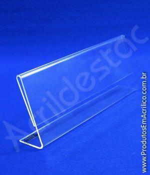 Display de PS Cristal Acrilico similar identificador de cargos nomes ou menu 8x19,5cm