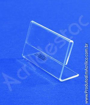 Display de PS Cristal Acrilico similar para etiqueta e preço de mesa 4,5x6cm