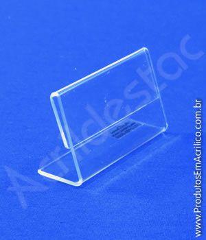Display de PS Cristal L Acrilico similar porta etiqueta e precificador 4x8cm