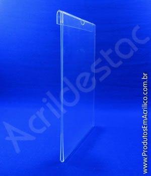 Porta Aviso PS Cristal acrilico similar A4 para Baias Display vidro Carro Automoveis Concessionarias