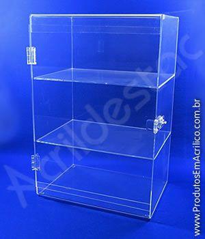 Armario Expositor Acrilico Vitrine com Porta transparente para Joias e Bijuterias, Cosmeticos