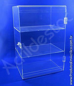 Armario Expositor Acrilico Vitrine com Porta transparente para Joias e Bijuterias, Cosmeticos, Odonto