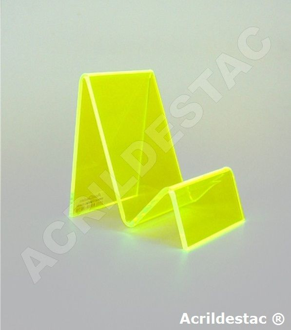 Expositor Suporte de Celular de Acrilico Cristal para Vitrine e acessorios Base inclinada