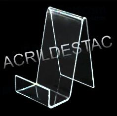 Expositor Suporte de Celular de Acrilico Cristal para Vitrine e acessorios Base reta