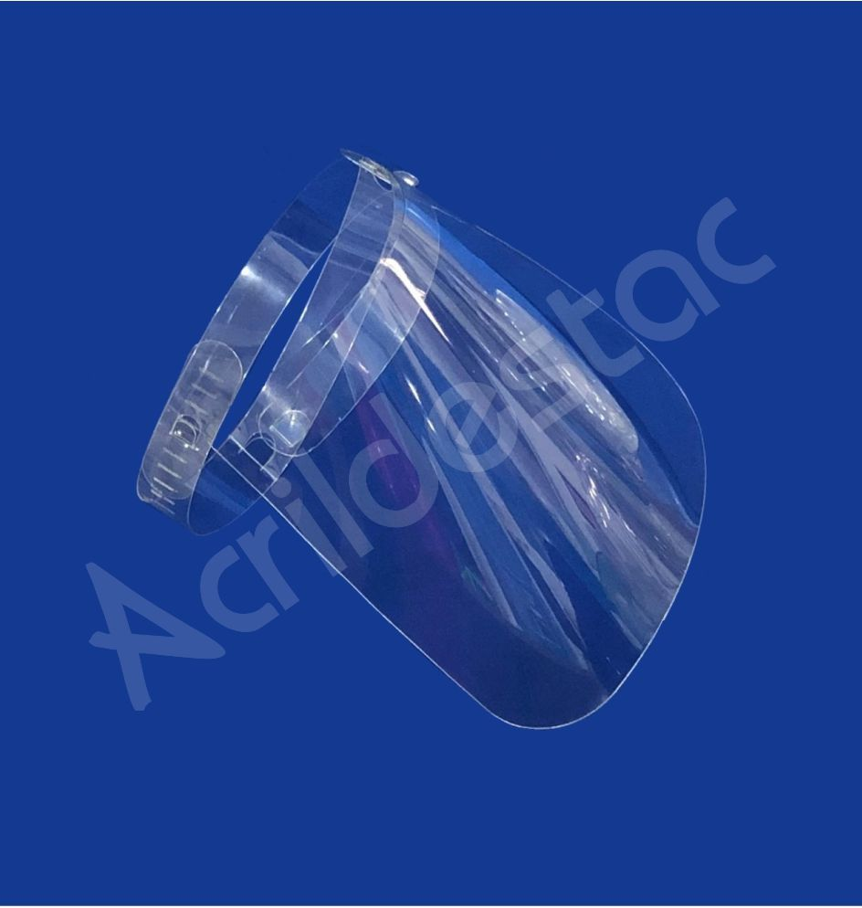 Mascara Viseira de Petg transparente Face Shield Escudo Protetor Produtos em acrilico