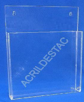 Porta Folheto de parede, porta documentos em Acrilico com Bolso A3 42x30 Vertical