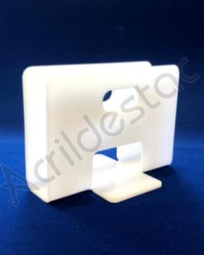 Porta Guardanapo de acrilico branco para mesa de Restaurantes