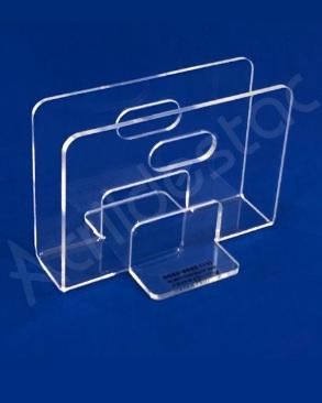 Porta Guardanapo de acrilico cristal para mesa de Restaurantes