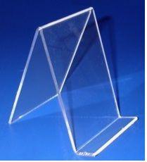 Porta Livro Acrilico cristal suporte 13 x 9 cm Indiv - Livrarias Lojas Papelarias Vitrines