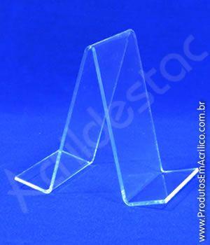 Porta Livro Acrilico cristal suporte 16 x 11 cm Duplo - Livrarias Lojas Papelarias Vitrines