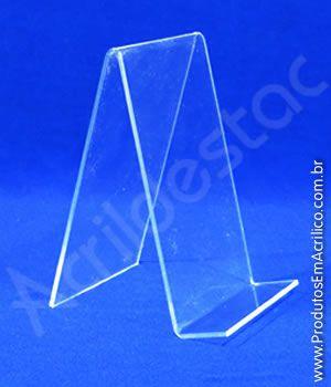 Porta Livro em Acrilico cristal 16 x 11cm Indiv - Livrarias Lojas Papelarias Estantes