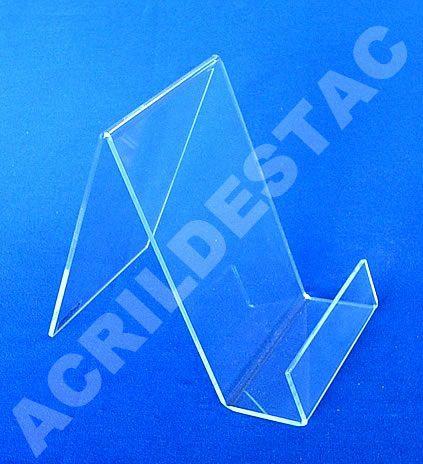 Porta Livro Acrilico 21 x 14 cm indiv com Aba Expositor para Livros - Livrarias Estantes