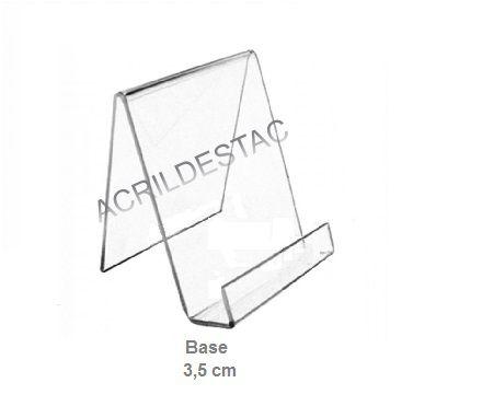 Porta Livro PS Cristal similar ao acrilico indiv 18 x 11,5 cm com Aba - Livrarias Vitrines Papelarias Lojas
