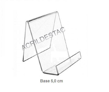 Porta Livro PS Cristal acrilico similar 21 x 14 cm   indiv com Aba - porta objetos cadernos bíblias
