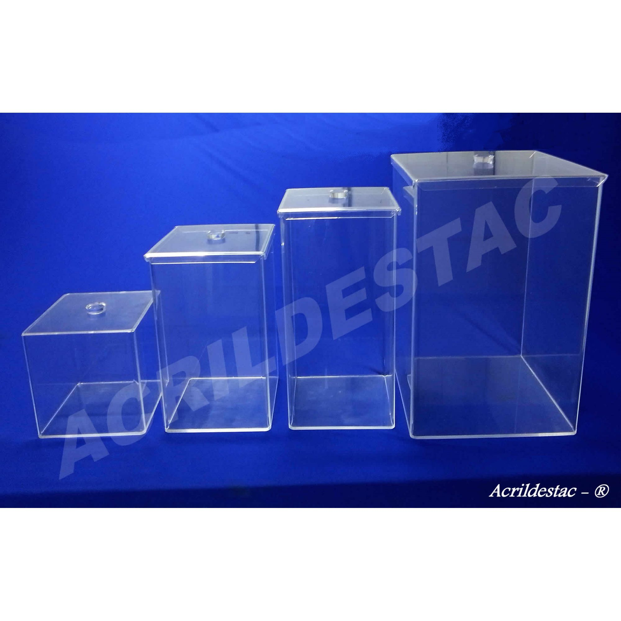 Potes de acrílico para alimentos secos e condimentos 20 x 20 cm (alt x base) - 8,0 L