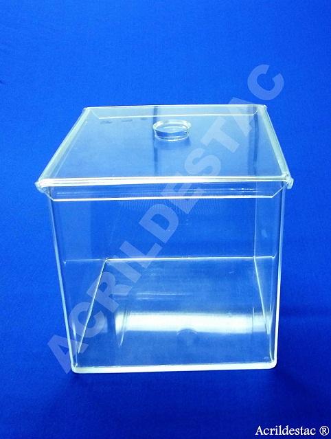 Potes de acrílico para alimentos e condimentos 25 x 20 cm (alt x base) - 10,0 L