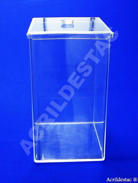 Potes de acrílico para alimentos secos e condimentos 50 x 25 cm (alt x base) - 31,2 L