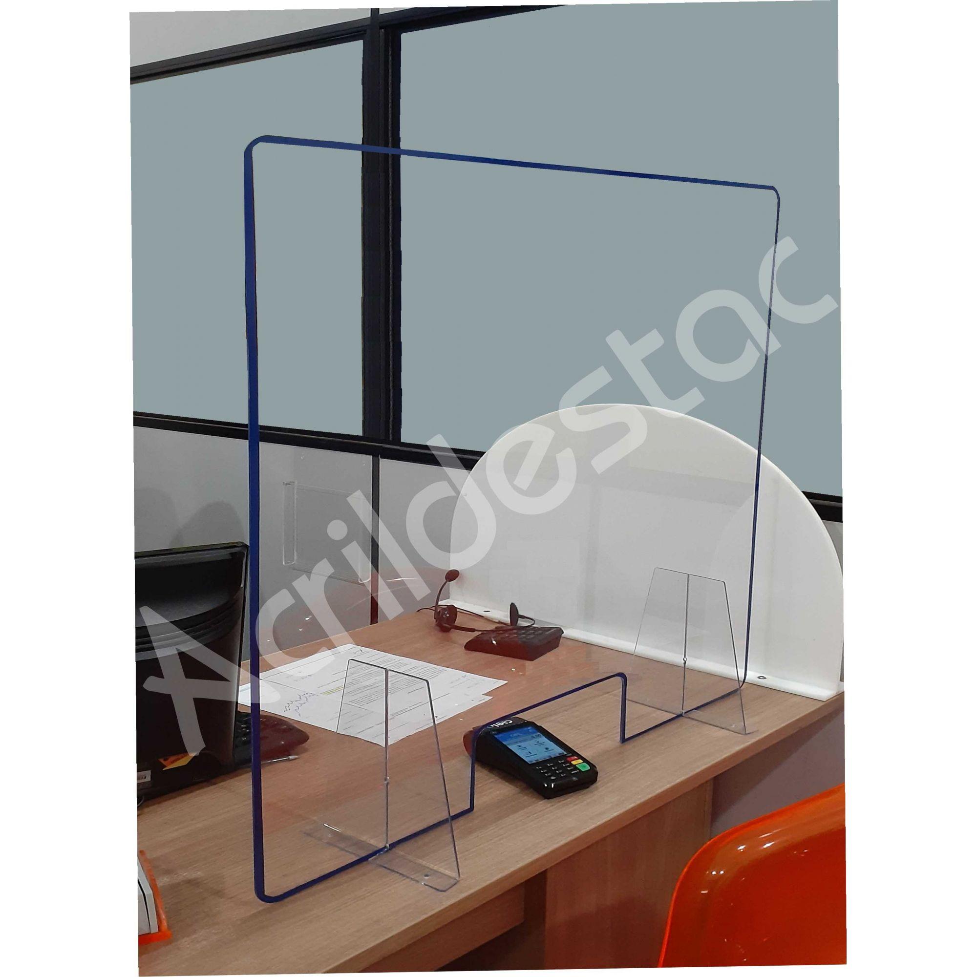 Protetor de Balcão Guichê de Atendimento PS Acrílico similar 50x60 cm