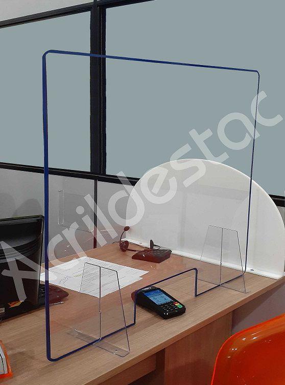 Protetor de Mesa Guichê de Atendimento PS Acrílico similar 60 x 120 cm