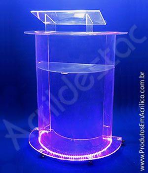 Pulpito de Acrilico Transparente QUEBEC Tribuna para Igrejas