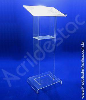 Pulpito de AcrIlico transparente SEVILHA para Igrejas e Eventos