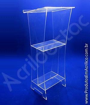 Pulpito de Acrilico VALENCIA Fabricante Podio para Discursos e Leituras