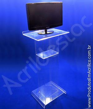 Pulpito de Acrilico transparente Pedestal para Notebook modelo MONACO