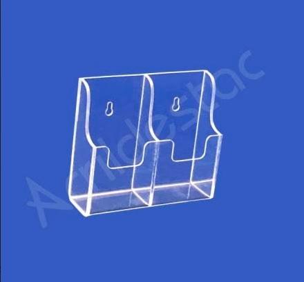 Suporte Acrilico Cristal Duplo para Controle Remeto e Ar Condicionado para Parede ou Balcão