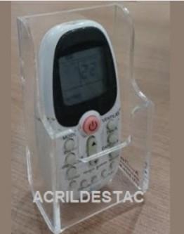 Suporte Acrilico Cristal para Controle Remeto e Ar Condicionado para Parede ou Balcão