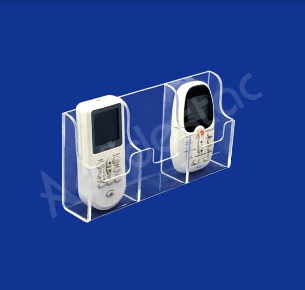 Suporte Acrilico Cristal Triplo para Controle Remoto e Ar Condicionado para Parede ou Balcão
